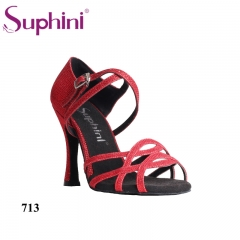 Free Shipping Suphini Competition Heel Salsa Latin Shoes Woman dance shoes Glitter Latin Dance Shoes