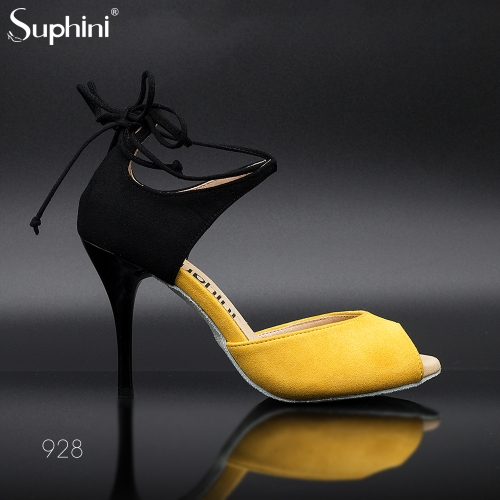 Suphini New Arrivals Sexy 9cm Small Open Toe Ankle Strap Argentina Tango Sandal Dance Shoes