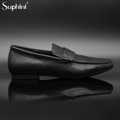 Suphini Soft Black Top Class Nappa Leather Loafer Bachata Salsa Kizomba Latin Men Dance Shoes